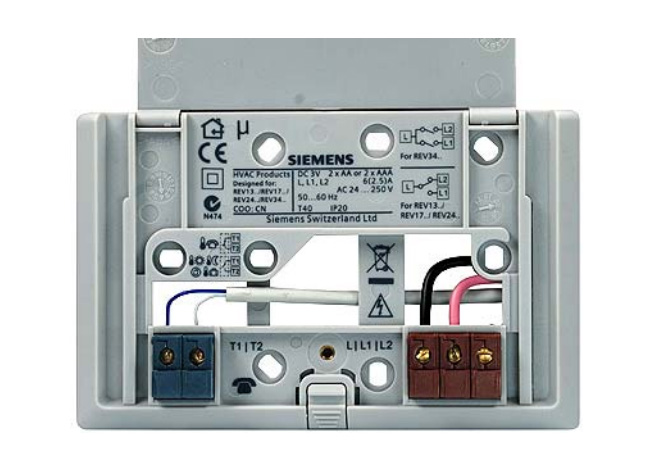 how to connect thermostat t1 and l1